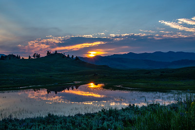 Sunrise over Yellowstone