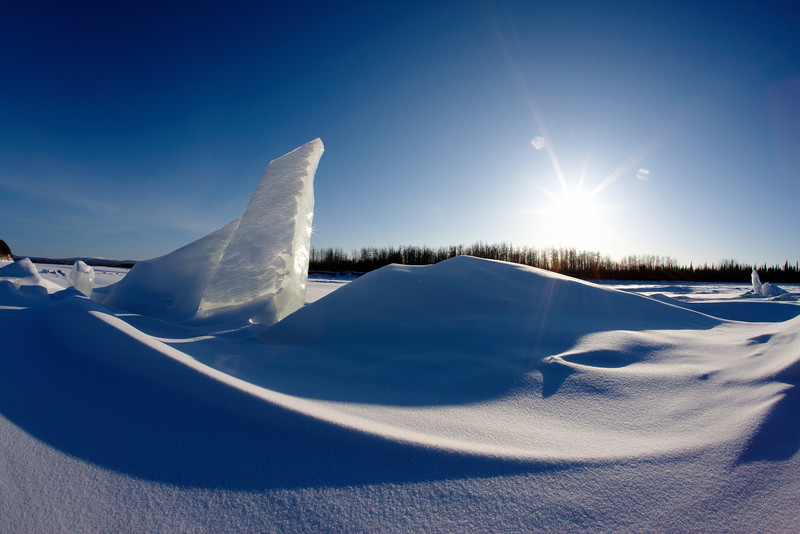 The Frozen Yukon River, Galena, Alaska