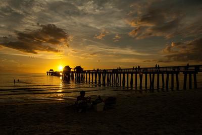Naples Pier Sunset. Photo taken in October, 2010, Naples Florida.