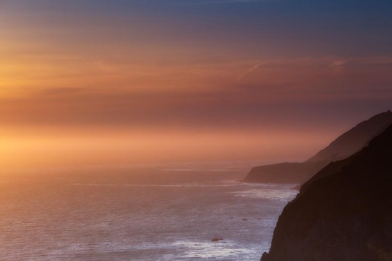 Sunset - Big Sur   <br /> Lee 3 Stop Hard GND