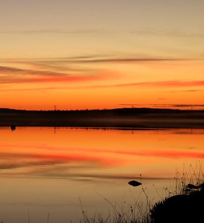 Sunsetting on Lochs Road, Isle of Lewis.