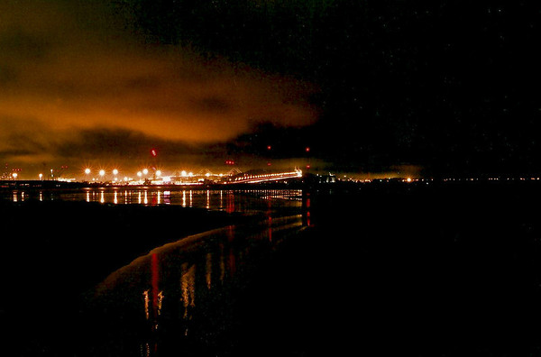 View of the San Francisco Oakland Bay Bridge from Emeryville