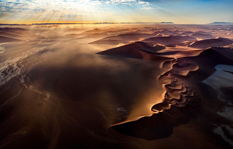 Sossusvlei aerial, Namibia
