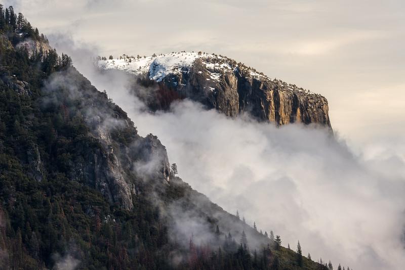El Capitan winter storm, Yosemite National Park
