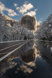 El Capitan winter reflection, Yosemite National Park