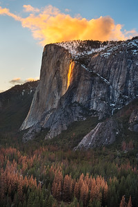 Yosemite Firefalls at sunset