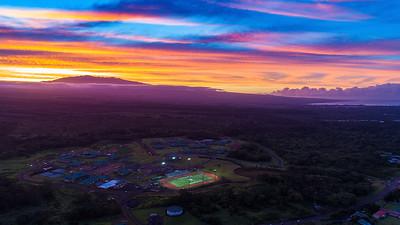 Sunset over Kamehameha Schools
