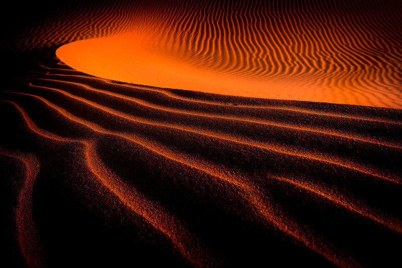 The sand dunes at Sossusvlei, Namibia shortly after sunrise.