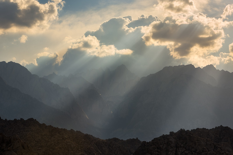 Rays over Mt. Whitney, Alabama Hills CA