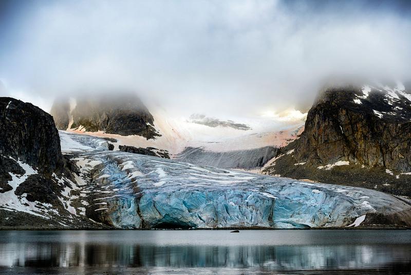 beautiful arctic scenery in the arctic,  Spitsbergen