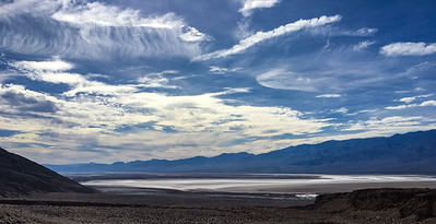 Interesting clouds over Death Valley