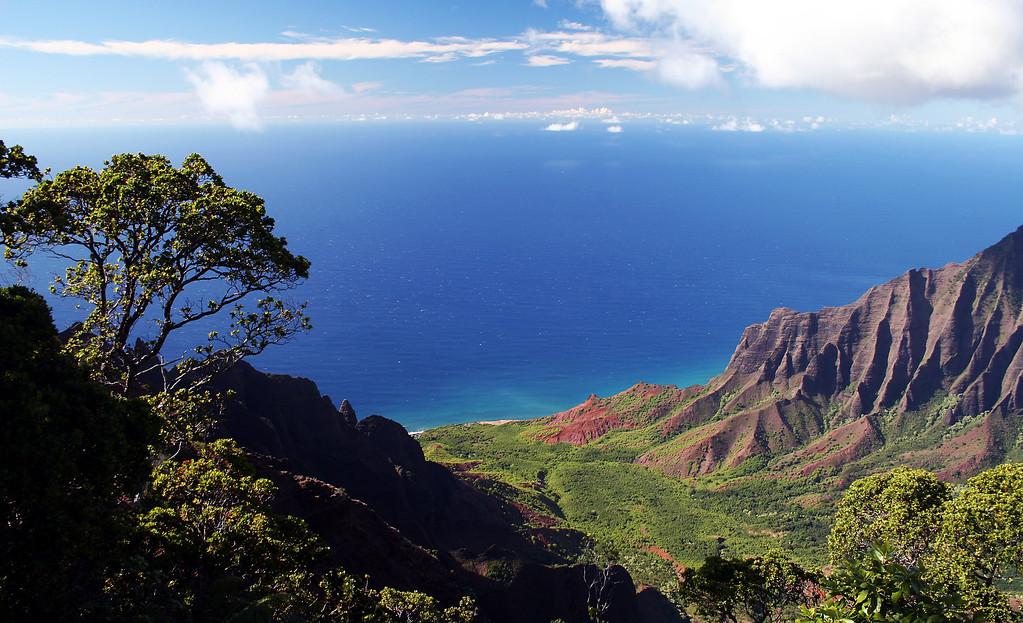 Overlooking  Kalalau Valley in Kauai