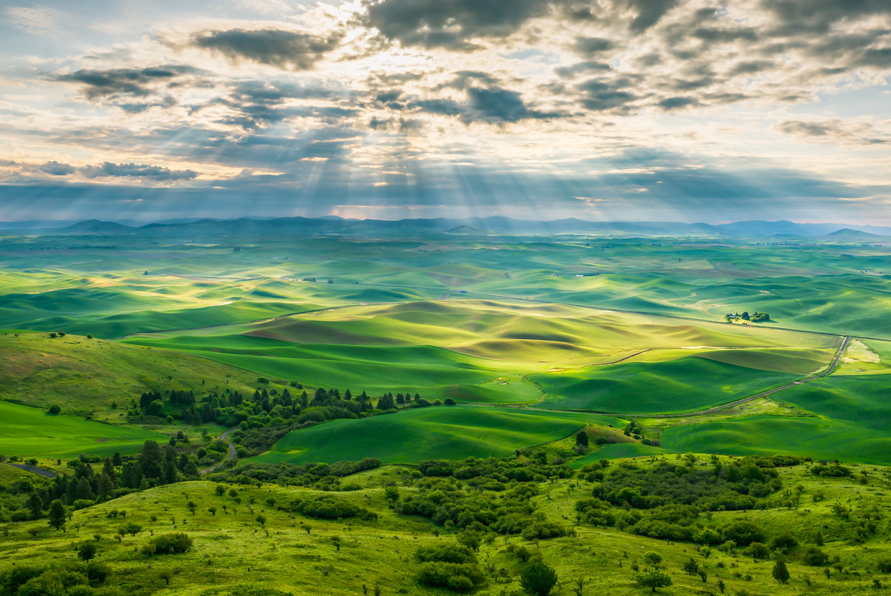 Steptoe Sunbeams - Craig Goodwin Photography Photo Keywords: Washington State