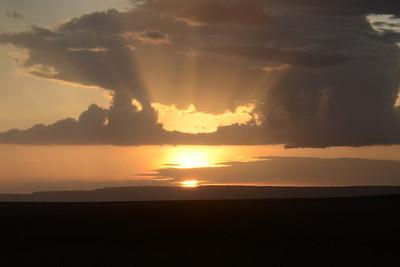 Sunset Maasai Mara Kenya 2011