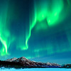 Northern lights, Aurora Borealis at Wiseman near Coldfoot Camp, Arctic, Alaska