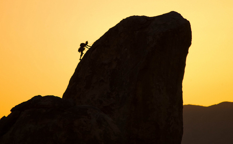 Joshua Tree rock climber