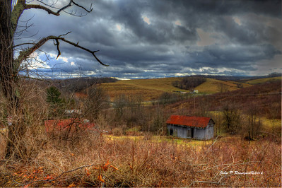 Rural hills of Licking County Ohio