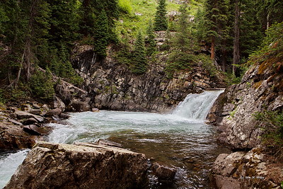 Waterfall in Rocky Mountains