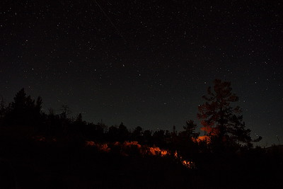 Stars Above Yellowstone Campfire