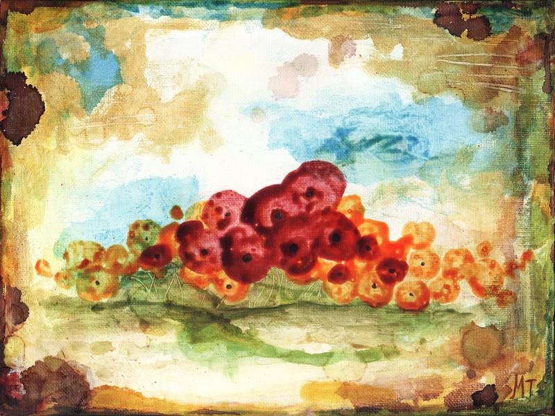 """Sonata"" (acrylics & alcohol inks) by Mandy Thompson"