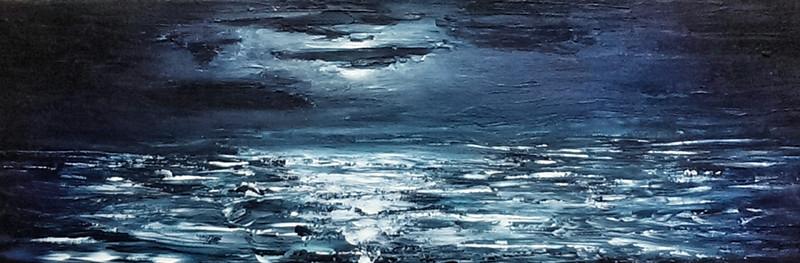 """Luna"" (acrylic on canvas) by Vivian Reyes"
