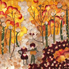 """Autumn"" (pressed flower petals) by Vasantha Mukthavaram"