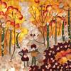 """""""Autumn"""" (pressed flower petals) by Vasantha Mukthavaram"""