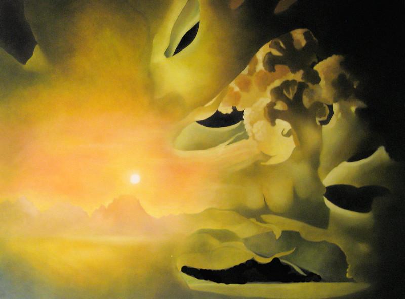 """Landscape with Cauliflower Florets"" (oil on canvas) by James  Tormey"