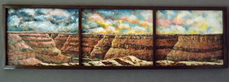 """Canyon Sunrise"" (oil on canvas) by Carl Owen"