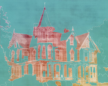 """Joshua Wilton House"" (digital painting) by Sabrena Deal"