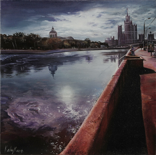 """Moscow"" (oil on canvals) by Katy Kann"