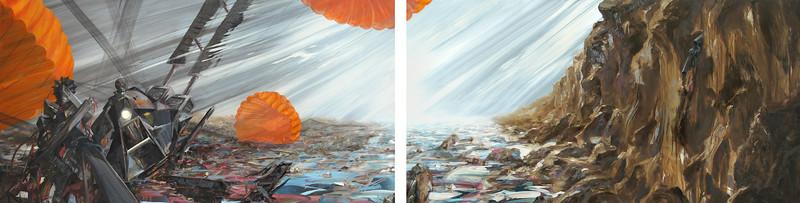 """""""The Return"""" (oil on stainless steel) by Jovan Karlo Villalba"""