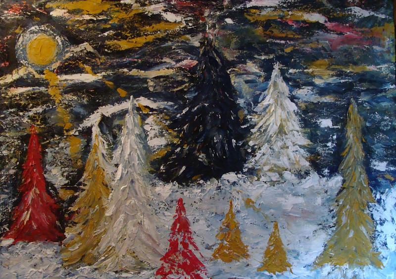 """Alone 07262014.1"" (acrylic) by BJ Talor-Longpre"