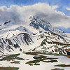 """Mt. Rainier, Melting Snow"" (watercolor) by Elizabeth Burin"