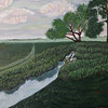 """Plum Creek"" (oil) Vivien Lin"