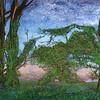 """L'Heure Bleu"" (egg tempera painting - egg, pigment, water) by Pohli Paula"