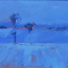 """Winter evening. Denmark"" (oil and acryl on MDF board) by Sven Froekjaer-Jensen"