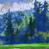 """Lynn Valley in North Vancouver"" (pastel) by Kira Sokolovskaia"