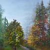 """Autumn Leaves"" (acrylic on canvas) by Yossi Sigura"