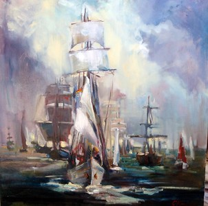 """Invincible Armada"" (oil on canvas) by Svetlana Kornilova"