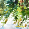 """""""Reflection"""" (watercolor on paper) by Qing Song"""