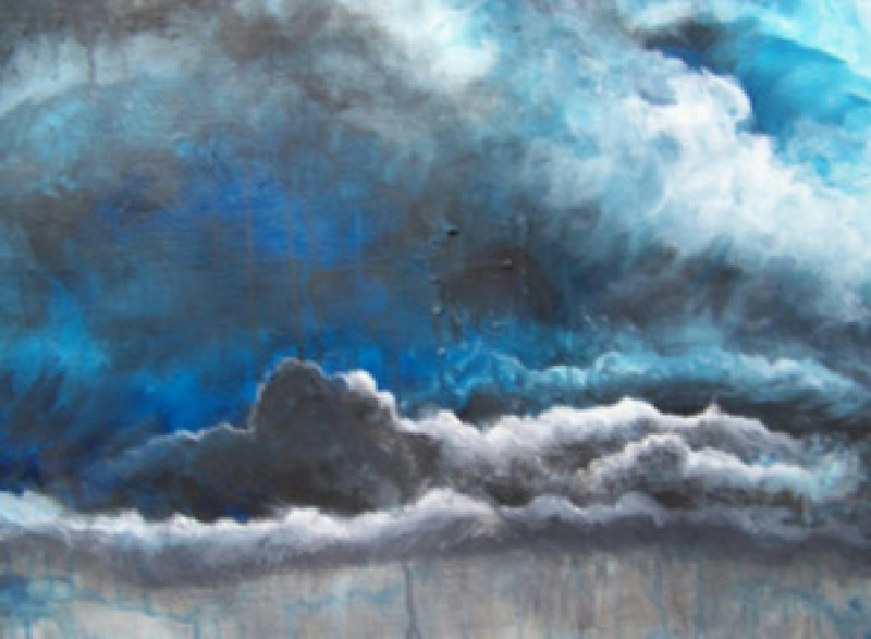 """Stormy Skys Make Me Feel Blue"" (acrylic) by Tobi Abrams"