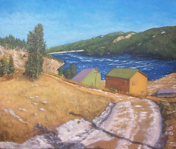 """""""Barker Dam"""" (oil) by Dennis Quinn"""