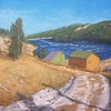 """Barker Dam"" (oil) by Dennis Quinn"