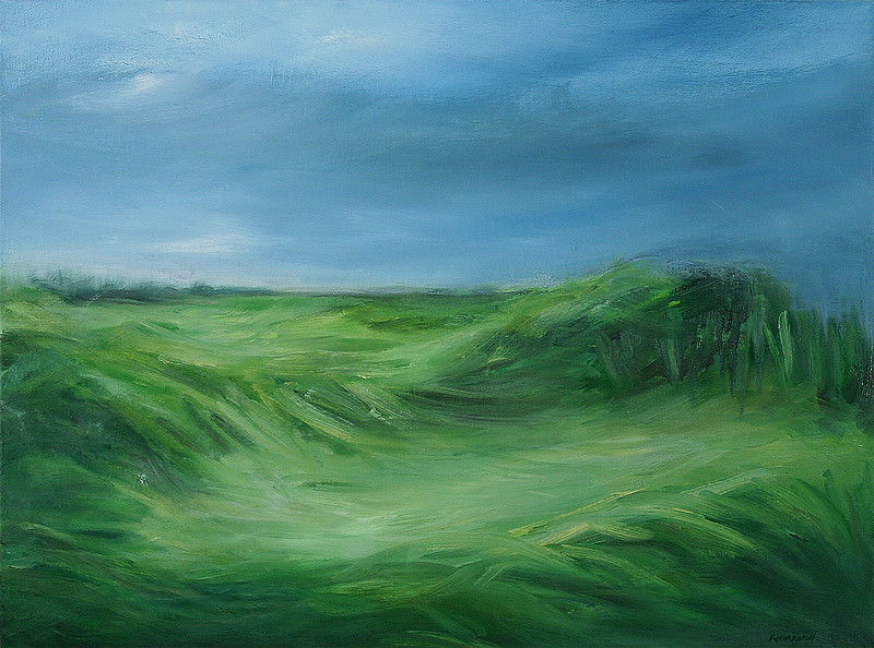 """Summer Fields No.1"" (oil on canvas) by Sara Richardson"