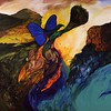 """My Valley"" (acrylic on canvas) by Phyllis Miller"