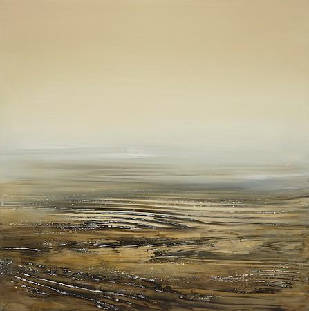 """Lowlands"" (oil on panel) by Deborah Weiss"