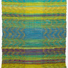 """Nature"" (weaving: linen & cotton warp, hand dyed cotton fabric) by Doerte Weber"