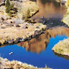"""Crooked River Reflection"" (digitally enhanced photograph) by Susette McCann"