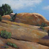 """Lichen Rocks Ridge"" (pastel) by Melody Sears"